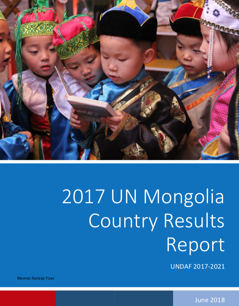 2017 UN Mongolia Country Results Report