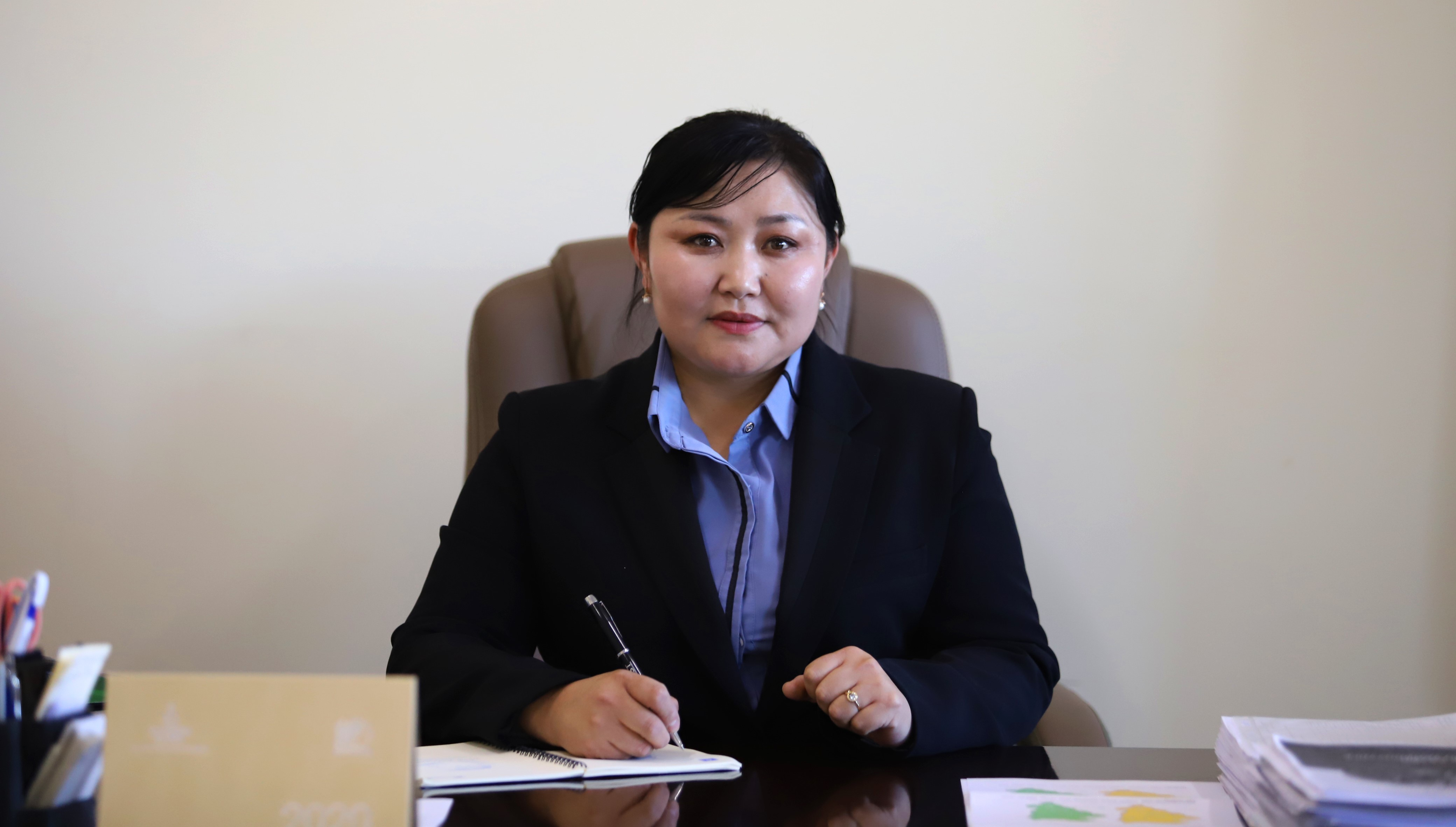 Delger, Governor of Gurvanbulag soum, Bulgan province
