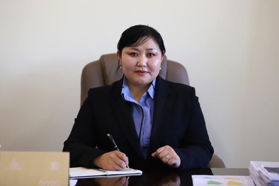 Delger, Governor of Gurvanbulag soum, Bulgan province